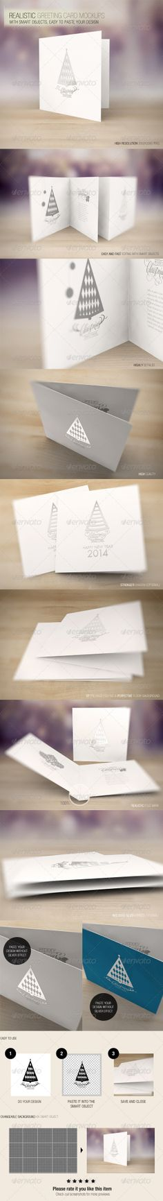 Realistic Greeting Card Mockups  - display tools