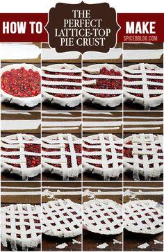 The Perfect Lattice-Top Pie Crust - [Bourbon Sour Cherry Pie | Spiced]