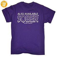 123t Slogans  Herren T-Shirt Violett Violett - Shirts mit spruch (*Partner-Link)