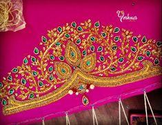 Co-operative colony Chamiers Road Chennai. Landmark : Next to Hotel Crown Plaza (Park sheraton) Call / Whatapp Wedding Saree Blouse Designs, Best Blouse Designs, Pattu Saree Blouse Designs, Simple Blouse Designs, Diy Bead Embroidery, Embroidery Neck Designs, Hand Work Embroidery, Mirror Blouse Design, Hand Work Blouse