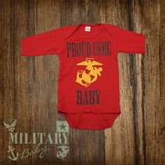 Proud USMC Baby by MilitaryBaby2013 on Etsy, $18.00 **FOR A FEW DAYS ONLY! ENTER CODE TO RECEIVE 10% OFF YOUR PURCHASE!**  HAPPYFALL10