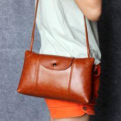 Women Genuine Leather Crossbody Bag Daily Casual Shoulder Bag - US$50.19