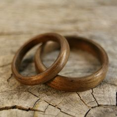 Wooden rings.  How a man thinks
