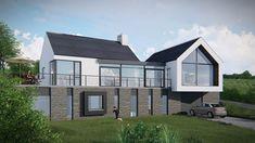 Housing S Tural Design-Split Level House Designs Ireland Modern Bungalow House Plans, Modern Farmhouse Exterior, Modern Houses, Bungalow Ideas, Bungalow Exterior, Split Level House Plans, Best House Plans, House Cladding, Facade House