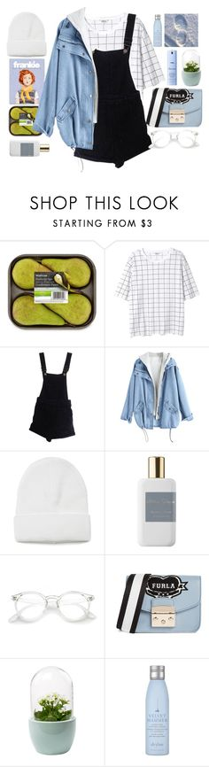 """""""Blue day"""" by foximperial ❤ liked on Polyvore featuring Monki, ASOS, Atelier Cologne, Furla, Drybar and Elemis"""