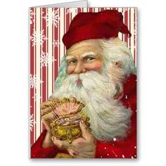 Merry Christmas - May it be sparkling and beautiful ~ Vintage Santa Claus postcard Vintage Christmas Images, Noel Christmas, Victorian Christmas, Father Christmas, Vintage Holiday, Christmas Postcards, Vintage Santa Claus, Vintage Santas, Vintage Cards