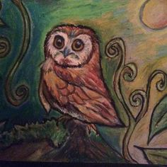 Experimenting with oil pastels today and one of my favorite topics: owl!  #owl #oilpastel #drawing #painting #torontoart #owlart #owldecor #cutelittleowl #newprojects #natureart #nature #inspiration #creativity #owlstagram_feature