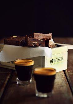 Chocolate and coffee fudge with vanilla salt.