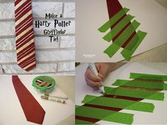 Attend your next costume fling as a secret wizard by making this dollar-store Harry Potter tie. | 27 Harry Potter DIYs That Are Basically Magic