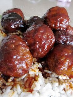 Crock-pot sweet and tangy meatballs - Try over egg noodles?