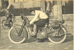 Woman on a Harley-Davidson Sport 20-J, ca. 1920s