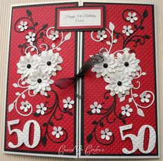 50TH BIRTHDAY CARD by: carolynshellard