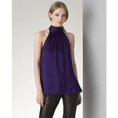 Alice + Olivia purple halter top #ao
