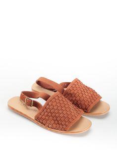 02efcac030a St. Agni Darci Platted Sandal - Rust Suede