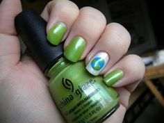 Earth Day Nails {April 22} @Michelle Wood