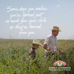 Morals, values and life lessons are handed down from one generation to the next, just like the secret to managing a dairy farm. This photo captures one of our farm family members, David, connecting with his son. #SimpleGoodness