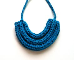 Upcycled T Shirt Yarn Braided Triple Necklace