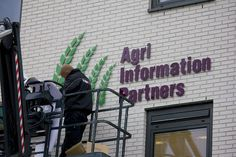 Agri Information Partners - Gevelbelettering - Agro Business Park, Wageningen by Tol produkties, via Flickr