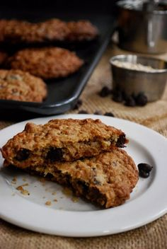 Laura Bush's Cowboy Cookies | Pass the Cocoa - soft, chewy 5-inch wide cookies with pecans, coconut and pools of melted chocolate.