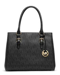 MICHAEL Michael Kors  Medium Jet Set Logo PVC Tote. $298