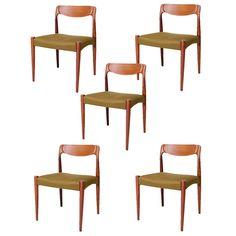 Set of 5 Danish Dining Chairs