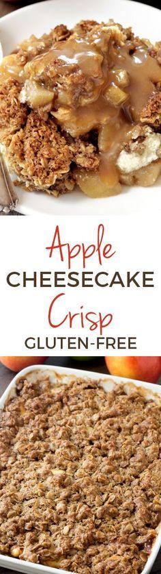 Caramel Apple Cheesecake Crisp with Maple Caramel Sauce (gluten-free, whole grain) @bobsredmill