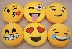 iPhone Emoji Smiley Emoticon Yellow Round Cushion Pillow Stuffed Plush Soft Toy, These Are Definitely My Favorite Emojis Cute Pillows, Sofa Pillows, Smiley Emoticon, Emoji Craft, Cute Plush, Round Pillow, Projects To Try, Gifts, Sewing Patterns