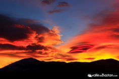 imagen del espectacular amanecer del que disfrutamos este lunes en el #ValleBaztan