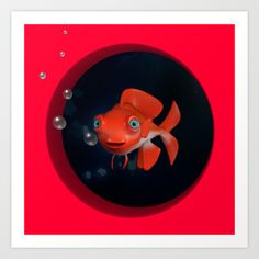 Fish Art Print by Mélissa Goudjil - $15.00