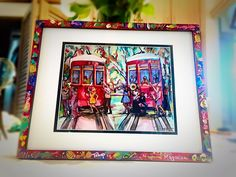 Streetcar Print by Pappion Artistry in New Orleans - artist is Christina Pappion New Orleans Art, Portrait, Live, Frame, Artist, Home Decor, Picture Frame, Decoration Home, Headshot Photography