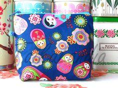 Items similar to SALE - Matryoshka Fabric Make-Up Bag - Matryoshka Cosmetic Bag - Cherry Wash Bag - Matryoshka Toiletry Bag - Matryoshka Zipper Pouch on Etsy Wash Bags, Toiletry Bag, Zipper Pouch, Cosmetic Bag, Diaper Bag, Make Up, Cosmetics, Trending Outfits, Unique Jewelry