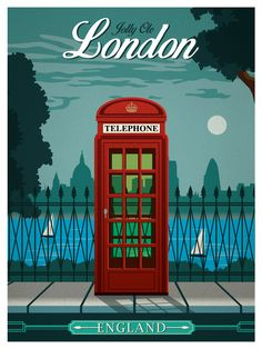Image of Vintage London Travel Poster