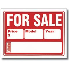 Bazic 2-Line For Sale Sign