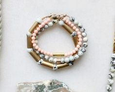 Gemstone and Brass Bracelets by The Vamoose