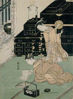 Suzuki Harunobu (Japanese) #illustration #japan Please like http://www.facebook.com/RagDollMagazine and follow @RagDollMagBlog @priscillacita