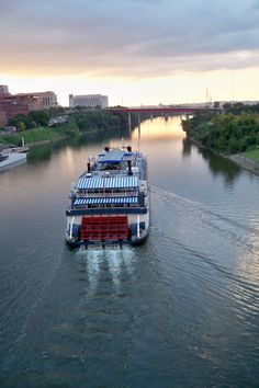 The General Jackson Riverboat on the Cumberland River in Nashville, Tennessee