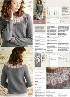 Пуловер с круглой кокеткой   Alexloveknitting   Flickr Fair Isle Knitting Patterns, Knitting Machine Patterns, Knitting Charts, Sweater Knitting Patterns, Knitting Stitches, Free Knitting, Icelandic Sweaters, Feather Pattern, Knit Crochet