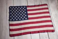 USA Flag Throw Blanket - Made in the USA