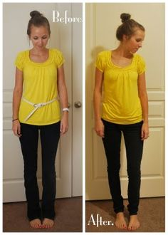 How to turn regular jeans into skinny jeans.  This girl has lots of tutorials for repurposing clothes!