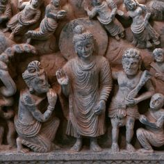 #Hercules #Vajrapani and the #Buddha all together on #frieze from #Gandhara