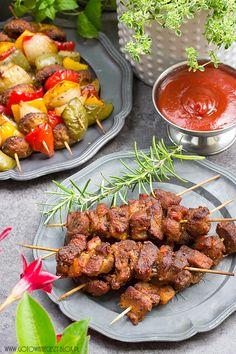 Szaszłyki z karkówki Kabobs, Skewers, Grill Party, Tandoori Chicken, Barbecue, Grilling, Pork, Appetizers, Food And Drink