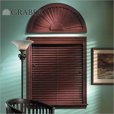 """Graber Traditions 2"""" Wood Blinds in Dark Cherry. These blinds are crafted from the finest North American hardwoods and are offered in a variety of stained or painted finishes at Blinds.com."""