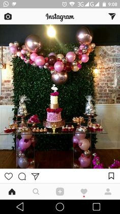 67 Ideas Baby Shower Table Cake Color Schemes For 2019 Baby Shower Table, Baby Shower Cakes, Shower Party, Baby Shower Parties, Bridal Shower, Birthday Balloons, 1st Birthday Parties, Birthday Party Decorations, Birthday Celebration