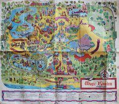 Rare Original 1971 Walt Disney World Disney Magic Kingdom Park Guide Map Disney Map, Disney World Map, Disneyland Map, Vintage Disneyland, Disney Love, Disney Trips, Disney Parks, Disney Pixar, Walt Disney