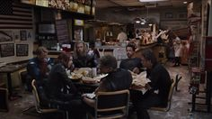 The avengers out to eat