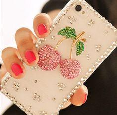 Rhinestone Cherry Ipod Iphone Case