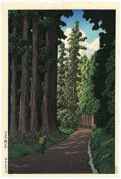 "Japanese Art Print ""Road to Nikko"" by Kawase Hasui, woodblock print reproduction, asian art, cultura Wallpaper Fofos, Art Asiatique, Nikko, Art Japonais, Japanese Painting, Japanese Prints, Japan Art, Animes Wallpapers, Woodblock Print"