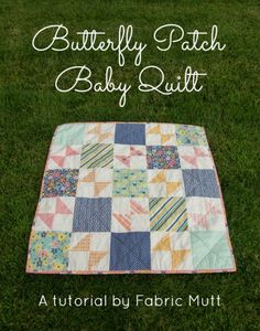 Riley Blake Designs -- Cutting Corners: Butterfly Patch Baby Quilt Tutorial