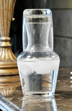 Personalized Bedside Water Carafe Set available at #Nordstrom...cute for in a guest room or office