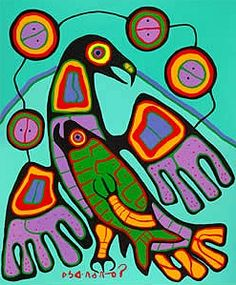 The Great Eagle by Norval Morrisseau, Ojibwe Artist Inuit Kunst, Inuit Art, American Indian Art, Native American Art, Art Haïda, Art Indien, Kunst Der Aborigines, Woodland Art, Atelier D Art